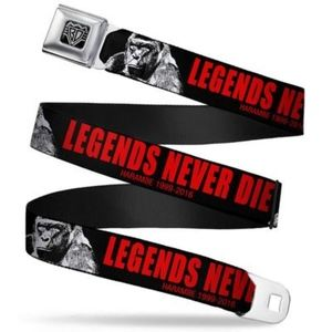 Harambe Legends Never Die Seatbelt Belt Regular